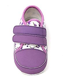 Togo Flower Print Casual Shoe - Purple