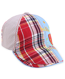 Babyhug Cap Checks Pattern - Multi Color