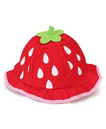 Babyhug Bucket Hat Drops Print - Red