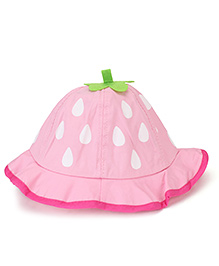 Babyhug Bucket Hat Drops Print - Light Pink