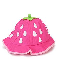 Babyhug Bucket Hat Drops Print - Deep Pink