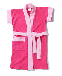 Babyhug Half Sleeves Bathrobe - Pink
