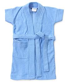 Babyhug Half Sleeves Bathrobe - Blue