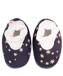 Kidofy Star Print Booties - Blue