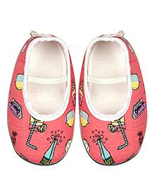 Kidofy Softy Print Booties - Pink