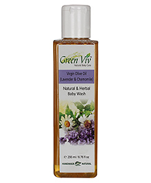 Greenviv Natural And Herbal Baby Wash Virgin Olive Oil - 200 Ml