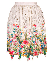 Mignon Floral Crochet Skirt - Multicolor