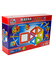 Flying Start Magna Blocks Multi Color - 20 Pieces