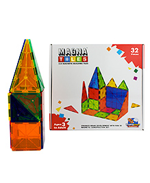 Flying Start Magna Tiles Multi Color - 32 Pieces