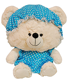Surbhi Teddy Bear Blue Off White - 21 Inches