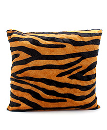 Tickles Tiger Print Square Cushion - Yellow And Black