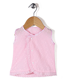Chocopie Sleeveless Jhabla - Pink