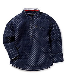 Gini & Jony Full Sleeves Printed Shirt - Navy Blue