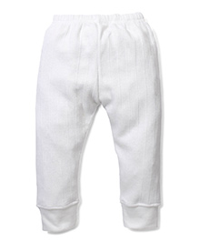 Babyhug Solid Color Thermal Legging - Off White