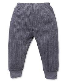 Babyhug Solid Color Thermal Legging - Dark Grey