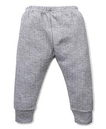 Babyhug Solid Color Thermal Legging - Light Grey