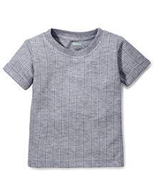 Babyhug Short Sleeves Thermal T-Shirt - Light Grey
