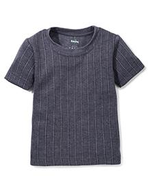 Babyhug Short Sleeves Thermal T-Shirt - Dark Grey