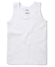 Babyhug Sleeveless Thermal Vest - White