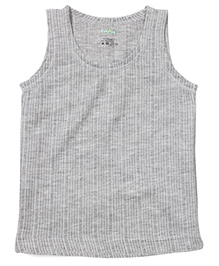 Babyhug Sleeveless Thermal Vest - Grey