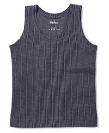 Babyhug Sleeveless Thermal Vest - Dark Grey