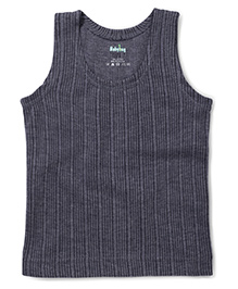 Babyhug Sleeveless Thermal Vest - Dark Grey