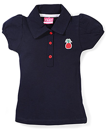 Play by Little Kangaroos Half Sleeves Top Pineapple Patch - Navy Blue