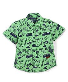 Vitamins Half Sleeves Shirt Multiprint - Light Green