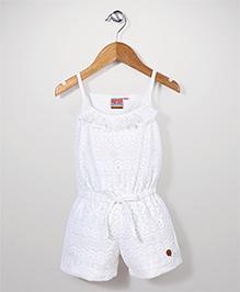 Vitamins Singlet Lace Jumpsuit - White