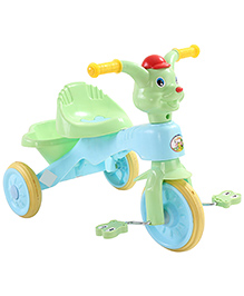 Musical Baby Tricycle Puppy Design - Green & Blue