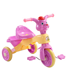 Musical Baby Tricycle Puppy Design - Purple & Yellow