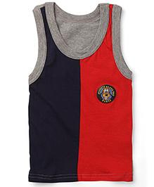Bodycare Sleeveless Vest Pluto Print - Navy and Red