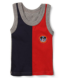 Bodycare Sleeveless Vest Mickey Mouse Print - Navy and Red