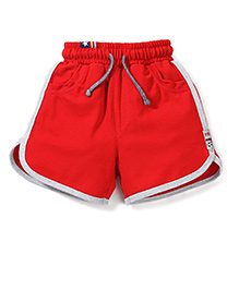 Spark Shorts With Drawstring - Red