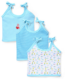 Babyhug Tie Up Slips Pack of 3 - Blue And White