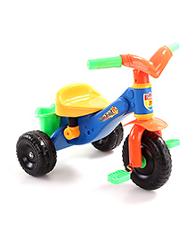 Baby Tricycle With Storage Basket - Blue Orange Yellow