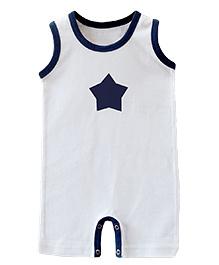 ATUN Star Print Onesie - White