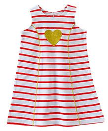 ATUN Classy Striped Dress - Red