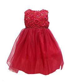 Cherubbaby Sleeveless Prom Dress - Red