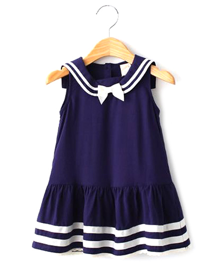 Cherubbaby Sailor Collar Dress - Blue