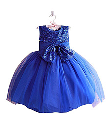 Cherubbaby Shimmer Party Dress - Blue