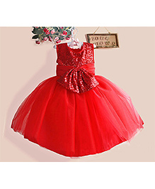 Cherubbaby Glitter Party Dress - Red