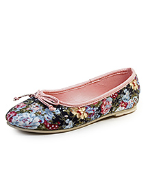 Beanz Belly Shoes Floral Print - Multicolour