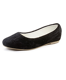 Beanz Slip-On Belly Shoes - Black