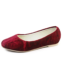 Beanz Slip-On Belly Shoes - Red