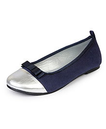 Beanz Belly Shoes - Navy Silver