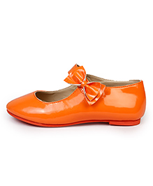 Beanz Belly Shoes Bow Applique - Orange