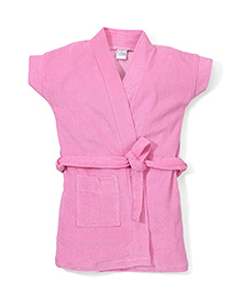 Babyhug Short Sleeves Bathrobe - Pink