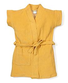 Babyhug Short Sleeves Bathrobe - Dark Yellow