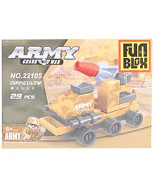 Fun Blox Army Blocks Set Multicolor - 29 Pieces